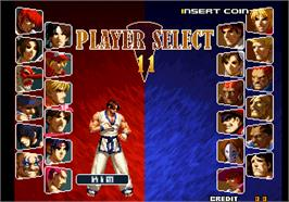 Select Screen for SNK vs. Capcom - SVC Chaos.