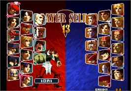 Select Screen for SNK vs. Capcom - SVC Chaos Plus.