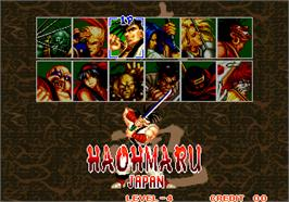 Select Screen for Samurai Shodown / Samurai Spirits.