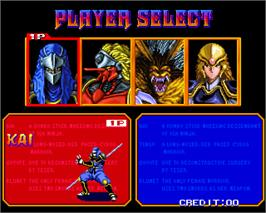 Select Screen for Shadow Force.