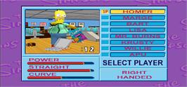 Select Screen for Simpsons Bowling.