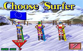Select Screen for Snow Board Championship.