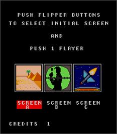Select Screen for Speed Ball.