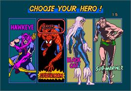 Select Screen for Spider-Man: The Videogame.