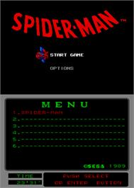 Select Screen for Spider-Man vs The Kingpin.