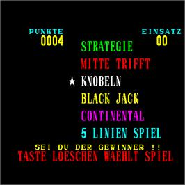 Select Screen for Spiel Bude.