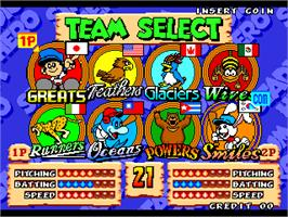 Select Screen for Stadium Hero 96.
