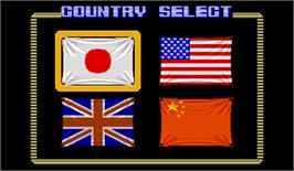 Select Screen for Street Fighter.