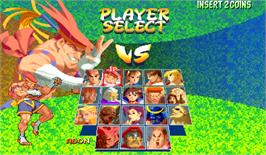 Select Screen for Street Fighter Alpha 2.