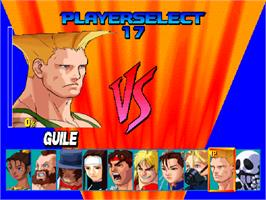 Select Screen for Street Fighter EX.