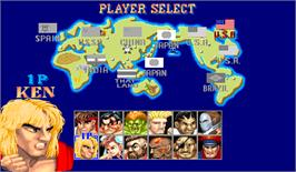 Select Screen for Street Fighter II': Champion Edition.