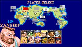 Select Screen for Street Fighter II': Hyper Fighting.