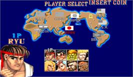 Select Screen for Street Fighter II: The World Warrior.