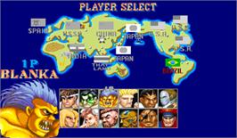 Select Screen for Street Fighter II' Turbo: Hyper Fighting.