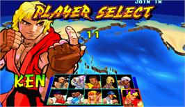 Select Screen for Street Fighter III: New Generation.