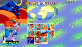 Select Screen for Street Fighter Zero.