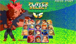 Select Screen for Street Fighter Zero 2.