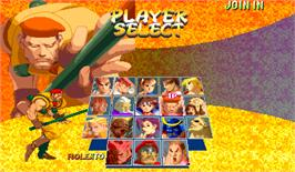 Select Screen for Street Fighter Zero 2 Alpha.