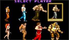 Select Screen for Street Smart / Final Fight.