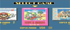 Select Screen for Super Mario Kart / Super Mario Collection / Star Fox.