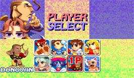 Select Screen for Super Puzzle Fighter II Turbo.