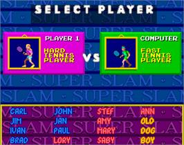 Select Screen for Super Slam.