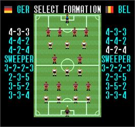 Select Screen for Super Soccer.