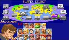 Select Screen for Super Street Fighter II: The Tournament Battle.