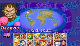 Select Screen for Super Street Fighter II Turbo.