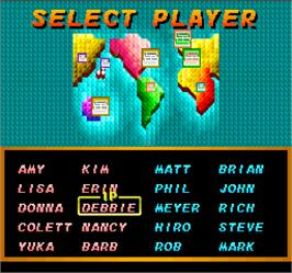 Select Screen for Super Tennis.