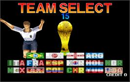 Select Screen for Tecmo World Cup '98.