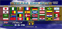 Select Screen for Tecmo World Cup Millennium.