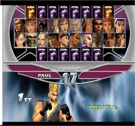 Select Screen for Tekken Tag Tournament.