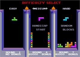 Select Screen for Tetris.