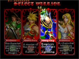 Select Screen for The Crystal of Kings.
