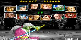 Select Screen for The Killing Blade.