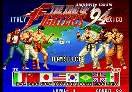 Select Screen for The King of Fighters '94.