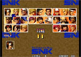 Select Screen for The King of Fighters '95.
