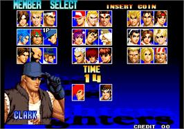 Select Screen for The King of Fighters '97.