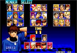 Select Screen for The King of Fighters '97 Plus.