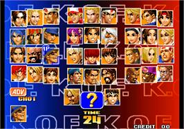Select Screen for The King of Fighters '98 - The Slugfest / King of Fighters '98 - dream match never ends.
