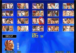 Select Screen for The King of Fighters 10th Anniversary.