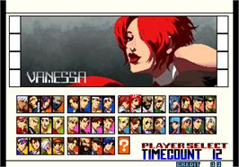 Select Screen for The King of Fighters 2001.
