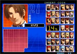 Select Screen for The King of Fighters 2002 Magic Plus.
