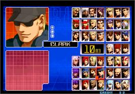 Select Screen for The King of Fighters 2002 Magic Plus II.