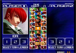 Select Screen for The King of Fighters 2004 Ultra Plus.