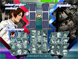 Select Screen for The King of Fighters Neowave.