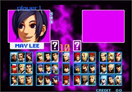 Select Screen for The King of Fighters Special Edition 2004.