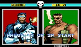 Select Screen for The Punisher.