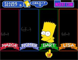 Select Screen for The Simpsons.